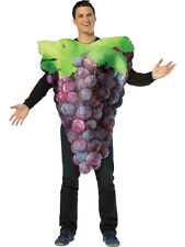 Adult Purple Grapes Outfit Fancy Dress Costume Fruit Mens Ladies Gents Womens