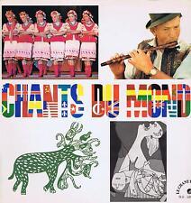 LP CHANTS DU MONDE LP + CATALOGUE LE CHANT DU MONDE