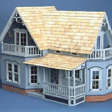 NEW Magnolia Dollhouse Kit Wood Doll House Farmhouse 2 Floor 4 Room w/ Fireplace