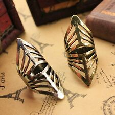 R1350 Nice Vintage Style Fashion Bronze corselet Punk Joint Finger Ring size 7