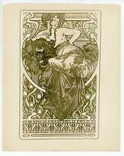 "Alphonse Mucha original Art Nouveau lithograph from portfolio ""L'Art Decoratif"""