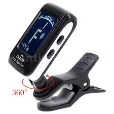 Clip on LCD Digital Chromatic Electronic Guitar Tuner Bass Violin Ukulele