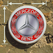 MERCEDES BENZ  Car Garage Light Box LED Games Room Sign man cave garage bedroom