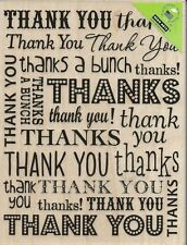 """Thank You"" Background Rubber Stamp by Hero Arts"