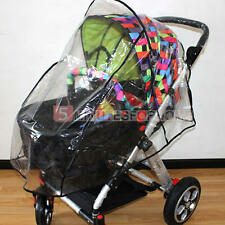 Universal Waterproof Rain Cover Wind Dust Shield Fit Most Strollers Pushchairs