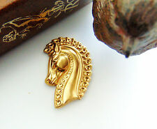 BRASS Medieval Head TROJAN HORSE Stamping - Jewelry Finding (E-9) `