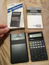 VINTAGE CITIZEN Scientific Collectable CALCULATOR  And Case 1960s-1980s