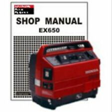 HONDA EX650 GENERATOR SERVICE AND USER MANUALS ON CD