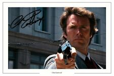 CLINT EASTWOOD AUTOGRAPH SIGNED PHOTO PRINT DIRTY HARRY