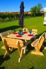 Heavy Duty Garden Table and Bench Set **NO Self Assembly required**