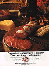 PUBLICITE ADVERTISING  1981   SUCHEZ  saucisson charcuterie