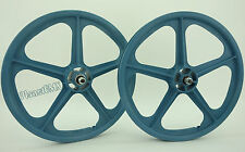 """Skyway 20"""" TUFF WHEELS II old school bmx sealed Mags LIGHT BLUE Made in the USA"""