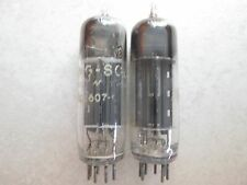 2 X TUNG-SOL/RCA BLACK PLATE D GETTER 6X4 VACUUM TUBES TESTED VERY STRONG!