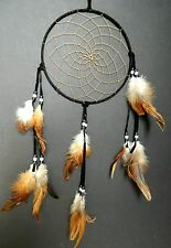 DREAM CATCHER APACHE INDIAN BLACK traditional native dreamcatcher LARGE suede