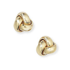 Jewelco London 18ct Yellow Gold - Knot Earrings -