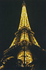 Postcard Set of 10 Eiffel Tower Paris France 2010 NIGHT VIEW Color Post Card