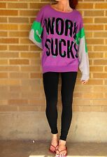 NWT~Daniel Palillo~Nasty Gal~Work Sucks Sweater~S~$375 **SOLD OUT EVERYWHERE**
