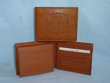 FIRE FIGHTER / FIREMAN   Leather BiFold Wallet    NEW    brown 4