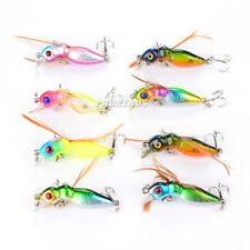 New 8pcs/lot Bee Insect Popper Fishing Lures Baits Lure Poper Tackle 4.5cm/3.6g