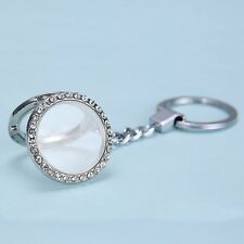 Hot 30mm Round Floating Locket Keychain keyring Fit Diy charm Necklace Bracelet