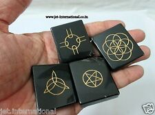 New Black Jasper Celtic Wiccan Symbol Pagan Gift Stone Luck Health Pouch Aura