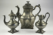 Reed & Barton Silver Teapot Creamer Flower Sterling Coffee Pot Plate or and 1766