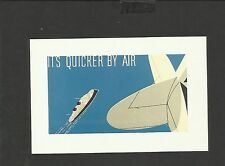Nostalgia Postcard Airmail Envelope design 1930
