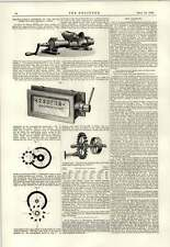 1889 Brunton Trier Grindstone Dresser Kaisers Counters The Linotype