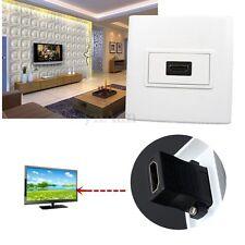 Portable HDMI 1 Port Façade Prise Murale Panneau Plaque Socket Coupleur Pr HDTV