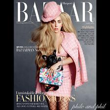 Lady Gaga Cover: Harper's BAZAAR Korea September 2014  Linda Lara Stone Claudia
