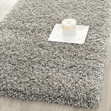New Shaggy Plush Silver Color 2'3 x 5 Ft Size Fluffy Thick Shag Carpet Area Rug