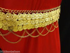 EGYPTIAN METAL COINS HIP BELT CHAIN BELLY DANCE PROFESSIONAL HAND MADE TRIBAL