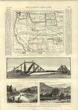 1889 New Territory Of Oklahoma Map Predicted Railway Blue Mountains Nsw