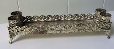 Vintage 4 FOOTED TRAY HOLLYWOOD   Lipstick Holder Gold Metal Mid Century Retro
