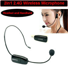 2 in 1 headset and handheld 2.4G wireless microphone with 3.5mm plug receiver