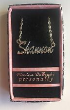 """""""SHANNON"""" Personalized Name Necklace by Designer Marina DeBuchi   - New in Box"""