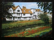 POSTCARD KENT CANTERBURY - OLD HOUSES BY THE WESTGATE GARDENS