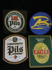 Set of 4 Various Coasters: Babycham, LCL Pils, Lowenbrau & Eagle  FREE SHIPPING