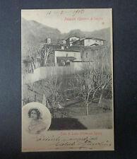 CARTOLINA LECCO ACQUATE CASA DI LUCIA  VIAGGIATA DEL 1903 SUBALPINA AAA