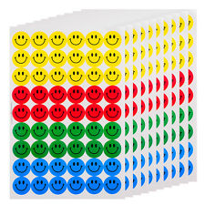New Cute 540pcs Colourful Happy Round Smile Face Stickers Circle Decor Home