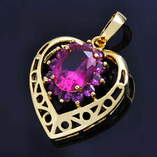 Lovely Heart Pendant Ruby 14k gold Fashion Jewelry for womens Necklace