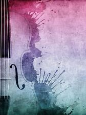 MUSIC PAINTING STRING SECTION CELLO VIOLIN PAINT SPLASH ART PRINT POSTER MP3680A