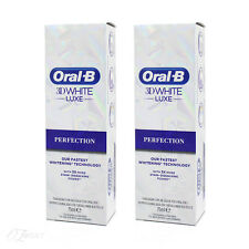 Oral B 3D White Luxe Perfection Toothpaste 75ml x2