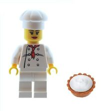 LEGO Female Chef Baker Minifig with Pie / Cake Town City NEW