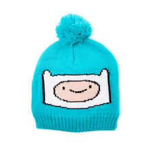 OFFICIAL ADVENTURE TIME'S FINN BLUE POM BEANIE HAT (BRAND NEW)