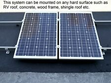 solar panel mounting rack 7 ft rails for 2 full size panels up to 320W x 2