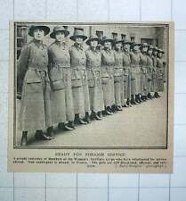 1917 Parade Of Women's Auxiliary Corps Well Disciplined Efficient And Keen