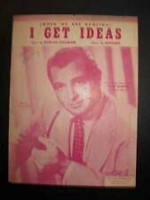I Get Ideas When We Are Dancing Sheet Music Vintage 1951 Tony Martin Sanders (O)