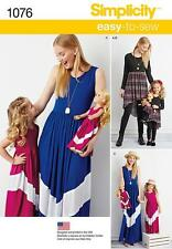 "SIMPLICITY SEWING PATTERN Child's & Misses' Maxi Dress & 18"" Doll Clothes 1077"
