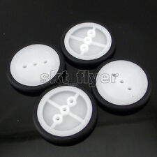 4pcs 30*3*1.9mm Rubber Car Tire Toy Pulley Wheels Model Robot Part for DIY